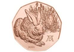 5 Euro Oostenrijk 2016 Konijn Unc