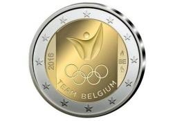 2 Euro België 2016 Olympische Spelen Rio Unc