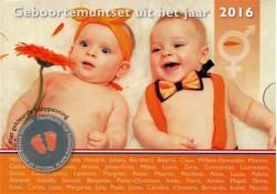 Babyset 2016 Oranje met gekleurde penning