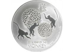 Niue 2016 Two Dollars Jear of the Monkey 1 ounce silver Proof