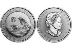 Km+??? Canada 2 Dollar 2016 Huilende wolf ¾ ounce Zilver
