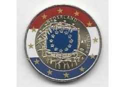 2 Euro Nederland 2015 Europese Vlag Gekleurd