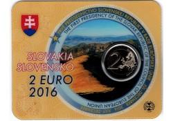 2 Euro Slowakije 2016 Voorzitter Eu Bu in Blister