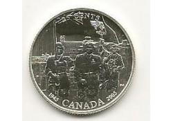KM??? Canada 25 cents 2005 Zilver 1945/2005 60 jaar bevrijding