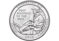KM ??? U.S.A ¼ Dollar Cumberland Gap 2016 D UNC