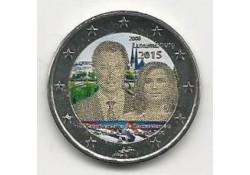 2 Euro Luxemburg 2015 15 Jaar na de troonsbestijging van Groothertog Hendrik. Gekleurd