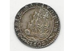 ¼ Gulden Nederlands Indië 1802 Pr