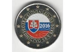 2 Euro Slowakije 2016 Voorzitter Eu Gekleurd