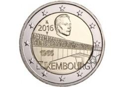 2 Euro Luxemburg 2016 Groothertogin Charlotte Brug UNC Voorverkoop*