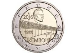 2 Euro Luxemburg 2016 Groothertogin Charlotte Brug UNC Presale