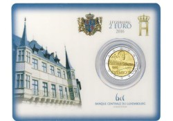 2 Euro Luxemburg 2016 Groothertogin Charlotte Brug Bu in coincard