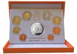 Proofset Vaticaan 2016 Met 20 euro zilver