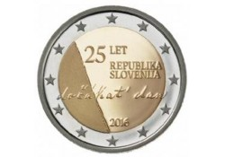 2 Euro Slovenië 2016 25 jaar onafhankelijkheid Unc