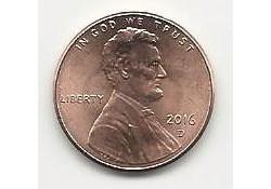 KM??? U.S.A. 1 Cent 2016 D Unc