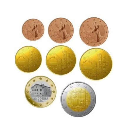 Jaarserie Andorra 1 cent t/m 2 euro Unc