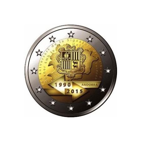 2 Euro Andorra 2015 25 jaar douaneovereenkomst met Eu Bu in blister Voorverkoop*