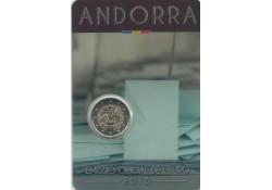 2 Euro Andorra 2015 30 jaar stemrecht Bu in blister