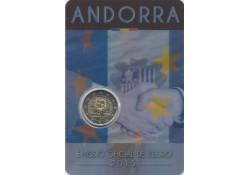 2 Euro Andorra 2015 25 jaar douaneovereenkomst met Eu Bu in blister