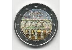 2 Euro Spanje 2016 Aquaduct van Segovia Gekleurd