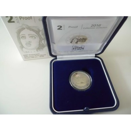 2 Euro Italië  2016 Plauto Proof