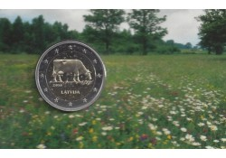 2 Euro Letland 2016  Koe  Bu in coincard
