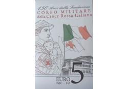 Italië 2016 5 euro Rode Kruis FDC