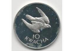 Km 19 Zambia1979 10 Kwacha Proof