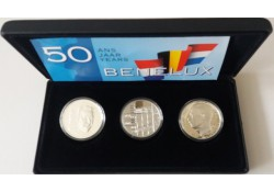 Beneluxset 1994 met de 250 Frank België en Luxemburg en de 10 gulden Nederland Proof