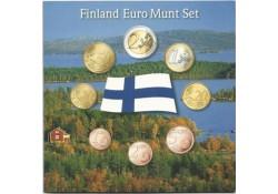 Unc serie Finland 2008 in blister met penning