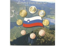 Unc set Slovenië 2008 in blister met penning