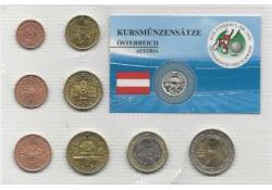 Unc set Oostenrijk mix jaren in blister met 1 dollar Liberia 2007 Wien