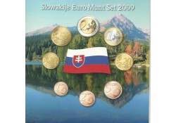 Unc set Slowakije 2009 in blister met penning