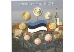 Unc serie Estland 2011 in blister met penning