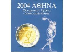 Unc serie Griekenland 2004 met 2 euro diccuswerper in blister