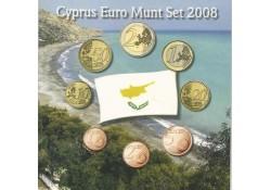 Unc serie Cyprus 2008 in blister met penning