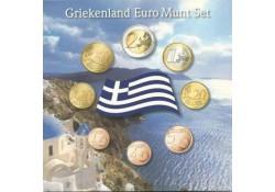 Unc serie Griekenland 2008 in blister met penning