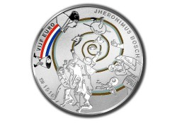 5 euro Nederland 2016 Unc het  Jheronimus Bosch Vijfje gekleurd Voorverkoop*