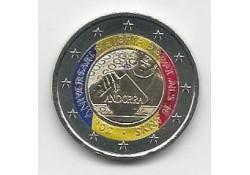 2 Euro Andorra 2015 30 jaar stemrecht Gekleurd