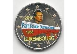 2 Euro Luxemburg 2016 Groothertogin Charlotte Brug Gekleurd