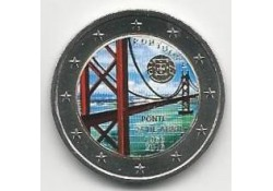 2 Euro Portugal 2016 50 jaar brug Gekleurd