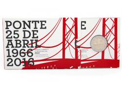 2 Euro Portugal 2016 50 jaar brug Proof