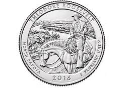 KM ??? U.S.A ¼ Dollar Theodore Roosevelt 2016 D UNC