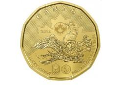 Km+??? Canada 1 Dollar 2016 Lucky Loonie