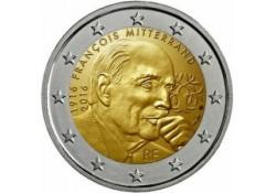 2 Euro Frankrijk 2016 Mitterrand Unc