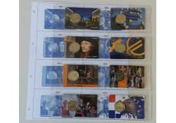 Serie Rood/Wit/Blauw coincards 2007-2015 inclusief opbergnblad