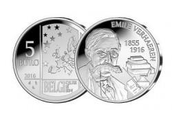 België 2016 5 euro 100-jarig overlijden van Emile Verhaeren