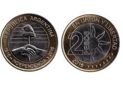 Km ??? Argentinië 2016 2 Pesos Unc