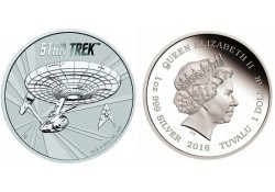Km ??? Tuvalu 2016 1 Dollar Star Trek 1 Ounce Zilver Proof