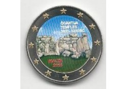 2 Euro Malta 2016 Unc Ggantija tempel Gekleurd
