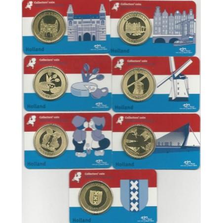 Penningen Holland KNM in Coincard serie van 7 stuks